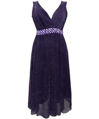 e09ac1797a1 Dovoz Anglie Plesové společenské fialové šaty