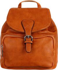 Glara Malý dámský koženkový batoh do města 8de4cff207