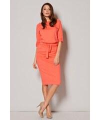 Elegantní dámské šaty Figl M246 korálové 65eee347802