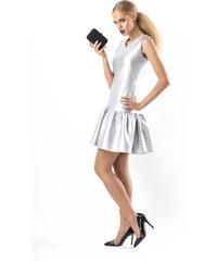 2e66c37bf64 Slavnostní dámské šaty Makadamia M151 stříbrné