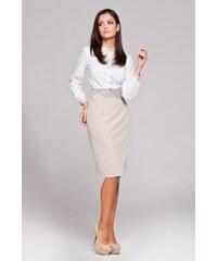 Elegantní dámská sukně Figl M160 béžová 6d70bebeae
