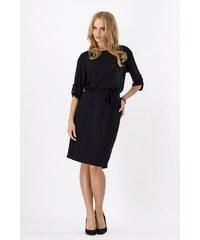 6149f40d9814 Dámské šaty Makadamia 8986 černé (tmavě šedé s nádechem modré)