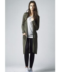 03a2a15889f8 Dámsky kardigan URBAN CLASSICS LADIES FINE KNIT LONG CARDIGAN OLIVE