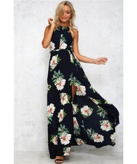 LM moda A Letní šaty temně modré dlouhé 924-2 b58f9f26b0