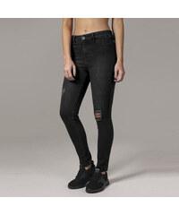 Urban Classics Ladies High Waist Skinny Denim Pants black washed 3b563f8bfc