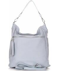 804275ab85 Genuine Leather Univerzální kožené kabelky světle modrá