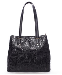 ItalY Exkluzívna dámska kožená kabelka čierna - Italo Logistilla čierna 616e006b8f1