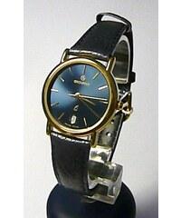 c4427d9719d Dámské švýcarské luxusní hodinky Grovana 3219.1215 na kůži s tmavě modrým  čísel.