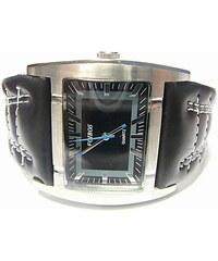 512dbc23d74 Mohutné moderní obrovské hranaté dámské hodinky Foibos 1881 s černým páskem