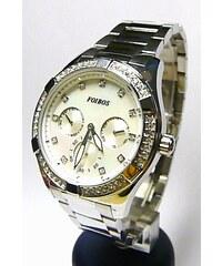 Luxusní střbrné dámské chronografy poseté zirkony - hodinky Foibos 1k531  5ATM POŠTOVNÉ ZDARMA! 512cb83fdb4