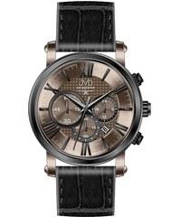 5fb292c4779 Pánský luxusní chronograf - hodinky JVD seaplane W73.2 na kůži se stopkami  5ATM
