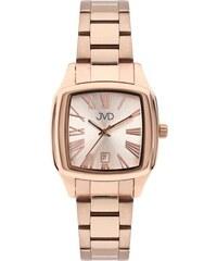 Hranaté ocelové unisex hodinky JVD W78.3 pro pány i dámy s datumovkou 7eec55d25f