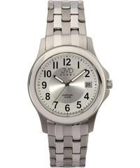 Ocelové hranaté nerezové náramkové hodinky JVD steel H01.2 5ATM. Detail  produktu. Vodotěsné luxusní hodinky JVD steel J1092.1 - 10ATM se safírovým  sklem f525185132