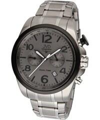 Pánské ocelové vodotěsné hodinky JVD W88.3 Seaplane Dual Time dva světové   asy 6617522479a