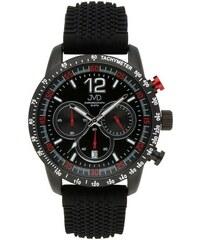 747165c4477 Pánské černé vodotěsné sportovní hodinky JVD chronograph J1102.1 - 10ATM