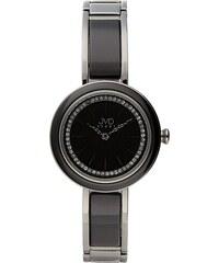 Šperkové černé luxusní dámské hodinky JVD W32.1 s černou úpravou IPblack 85eb2ba380