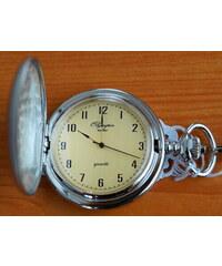 Luxusní stříbrné kapesní hodinky Olympia 30421 na řetízku - retro d60dab64ad4