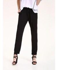 Top Secret Kalhoty dámské černé společenské s páskem f46fe7e39f