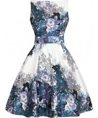4bc64b211f5 Dámské retro šaty Lady Vintage Grey Rose Floral Collage Lady Vintage AW16TE