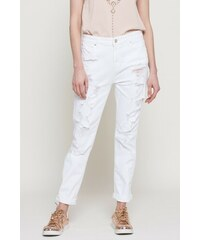 Bílé roztrhané dámské džíny s dopravou zdarma - Glami.cz aed51b8e6a