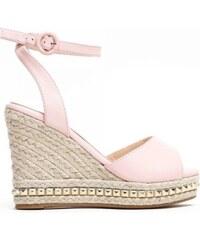 Dámské růžové sandály na klínku Carlita 2084 ef911ca0eb