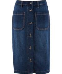 bonprix Džínová strečová sukně 633195d24a
