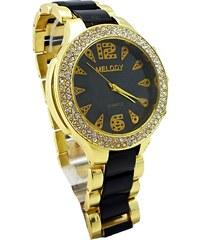 42374ad8ae7 Dámské hodinky Melody Extravagans černo-zlaté 035D