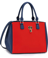d12bf07670 L S Fashion Kabelka Blue   Red Padlock Tote Handbag LS00410 - Blue   Orange  ( Red