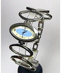 Dámské moderní stříbrné modré hodinky Olympia 50258 f164ca1f6fb