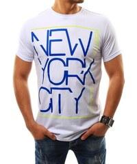 9dc1de3d95e1 Biele pánske tričko s potlačou New York City Brooklyn