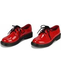 Dámské červené mokasíny Emotey 111 3400db991f