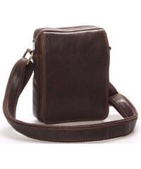 Pánská kožená taška na doklady přes rameno hnědá - SendiDesign Dumont hnědá 08738d97a16