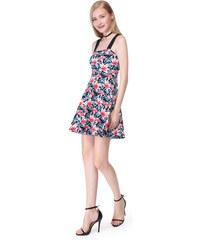 afc7b25327d Ever Pretty Letní krátké květované šaty na ramínka 5646