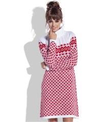 Teplé šaty Fobya F335 bílé 807038a79f