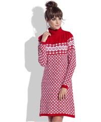 Teplé šaty Fobya F335 červené 225dc3f25e