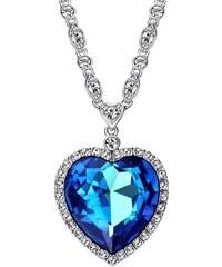 7ef49bf1d2f IZMAEL Náhrdelník Glory Ocean Heart- Modrá KP1938
