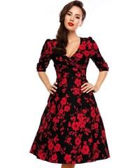 90e970f55dd Dolly and Dotty retro šaty Katherine černé s květy