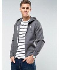 2c9a39be26f New Look zip through hoodie in grey marl - Grindle