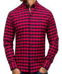 Pánská červená kostkovaná košile s dlouhým rukávem Bolf 5816 - Glami.cz 1db6dc3b48