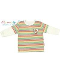 c4865cd3358 Polo tričko dlouhý rukáv Mamatti - CAR- krémové barevné proužky