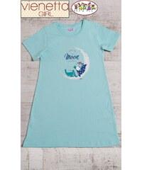 Vienetta Secret Dětská noční košile s krátkým rukávem Méďa na měsíci da650effb9