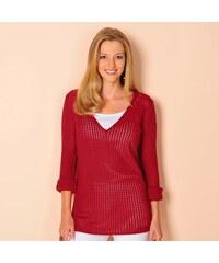 7468a4664dd Červené dámské svetry s výstřihem do v