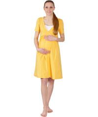 Těhotenská a kojící noční košile Rialto GLOYL Tmavě žlutá 0268 b9e892f801
