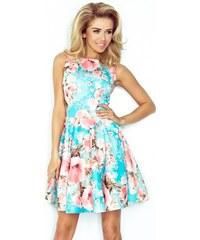 eca6d270053a Dámské elegantní květinové šaty FLORA bez rukávu 12515 NUMOCO 125-15