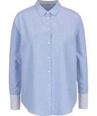 5a41798eb88 Světle modrá košile s průsvitnými plisovanými zády TALLY WEiJL