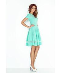 db5dfbf6cd83 MORIMIA Tyrkysové šaty so sieťkoou MM 003-1 S
