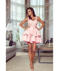 Růžové šaty s krajkou  80c308214f9