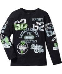 e46f90302bd54 bpc bonprix collection Bonprix - T-shirt manches longues imprimé noir pour  enfant