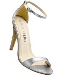 BODYFLIRT Bonprix - Sandales à talons gris pour femme