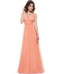 80591bff6ad0 Růžové šifonové maturitní společenské šaty - Glami.cz